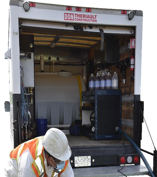 septic system maintenance restoration repair service van slider