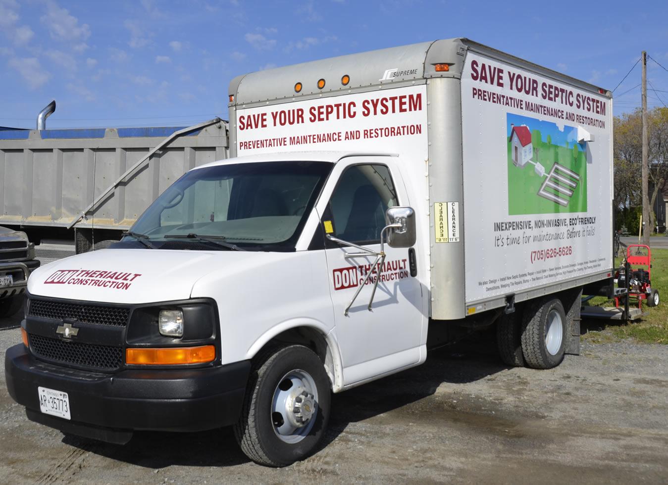 septic tank leaching bed maintenance repair bacteria cube van